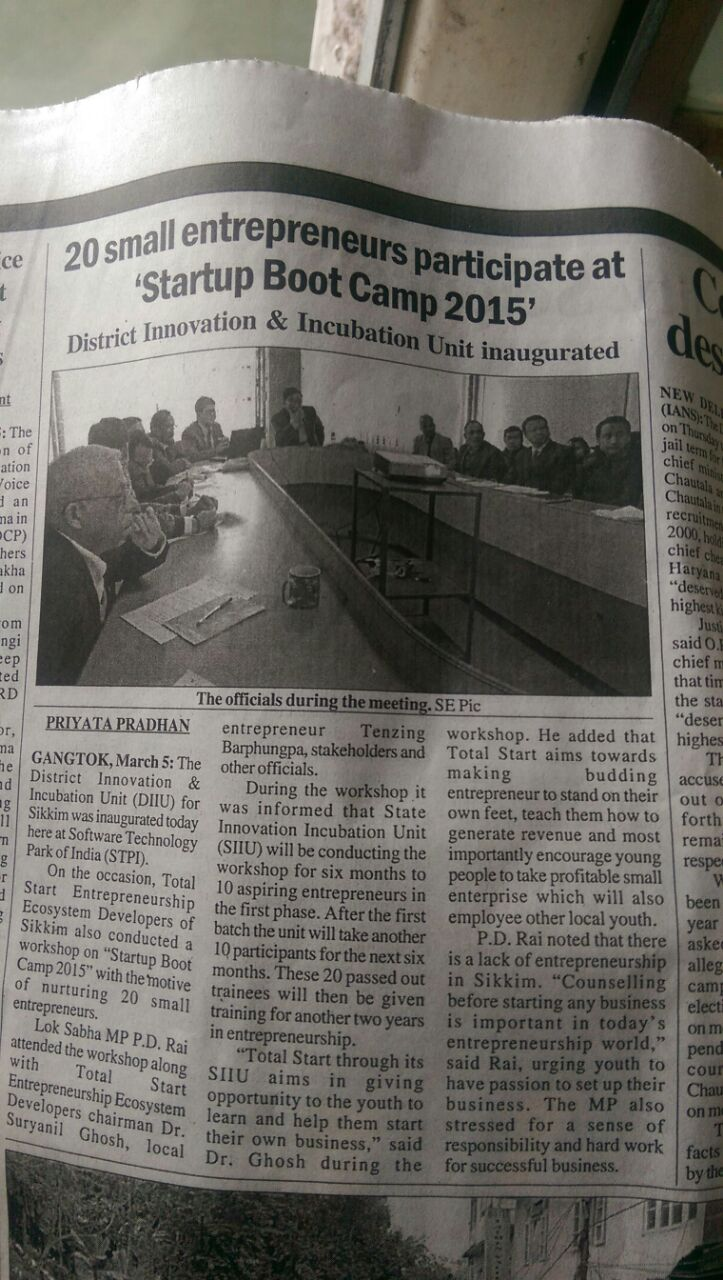 TotalStart Sikkim in News