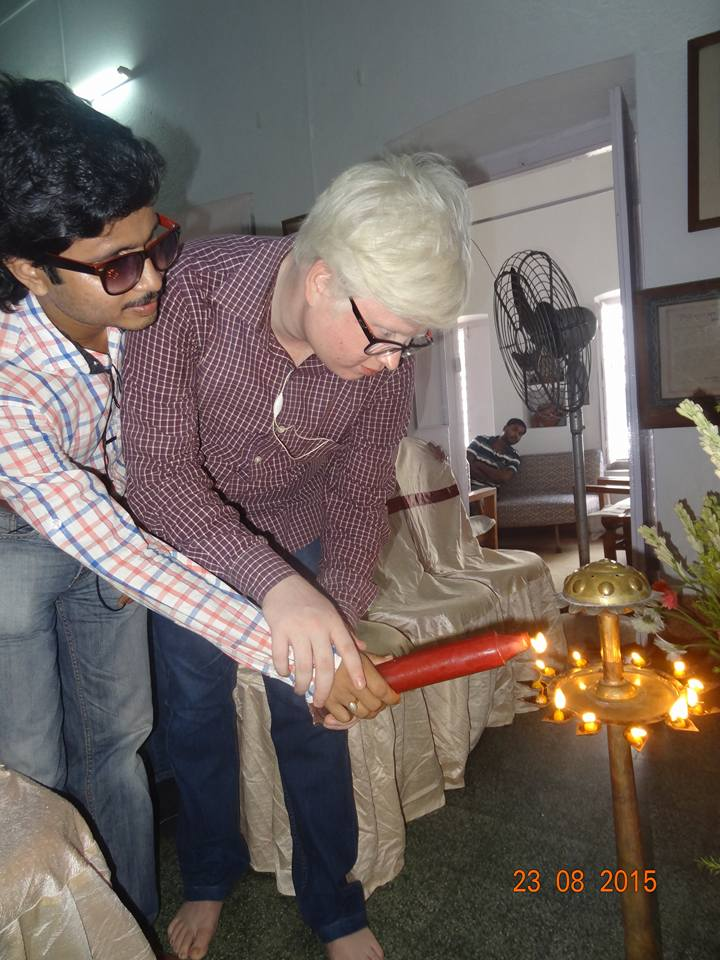 Inauguration of the TotalStart Blind Youth Innovation & Incubation Center - candle lighting by Blind Youth Entrepreneurs