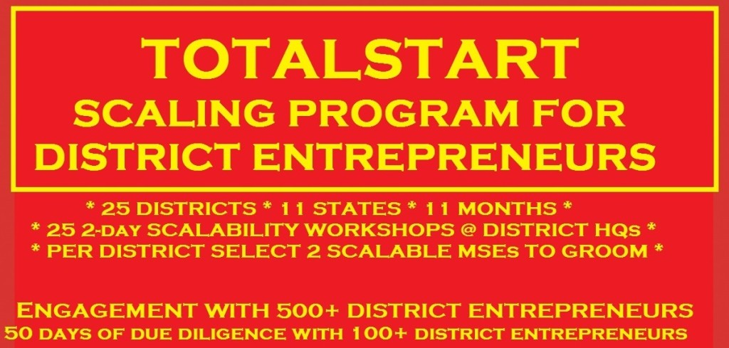 TotalStart Scaling District Entrepreneurs Top Part of Banner